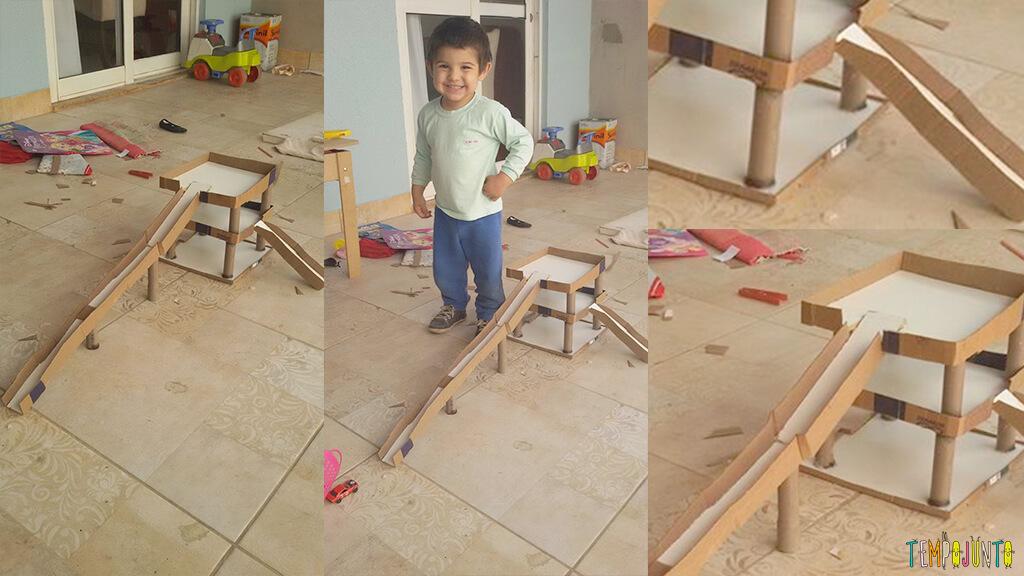 Você no Tempojunto um amor de brinquedo caseiro - pista em construção