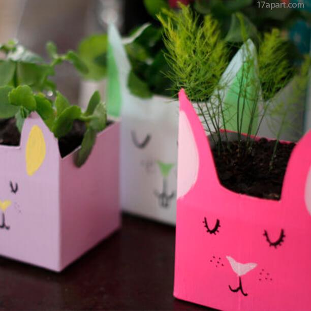 10 ideias para a pascoa - cachepot de coelho