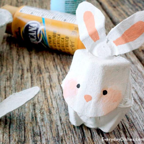 10 ideias para a pascoa - coelho de caixa de ovo