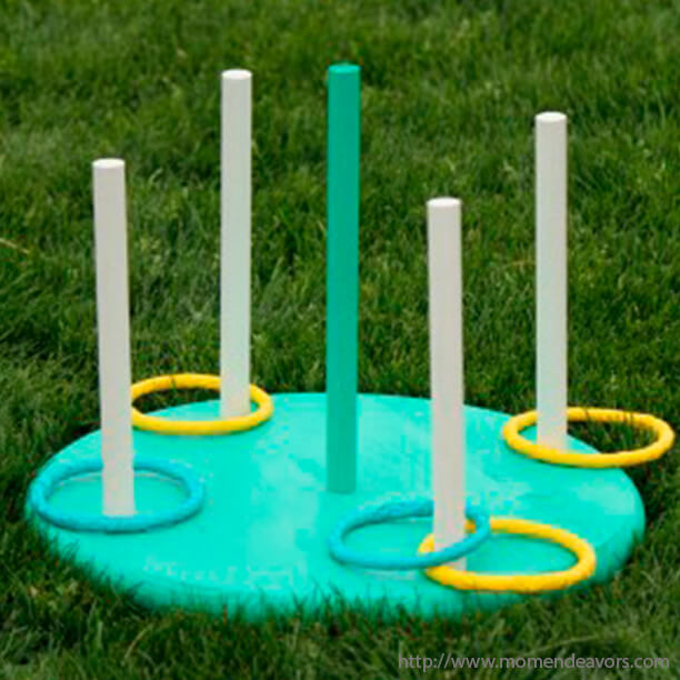 10 jogos gigantes para fazer com as crianças - argolas