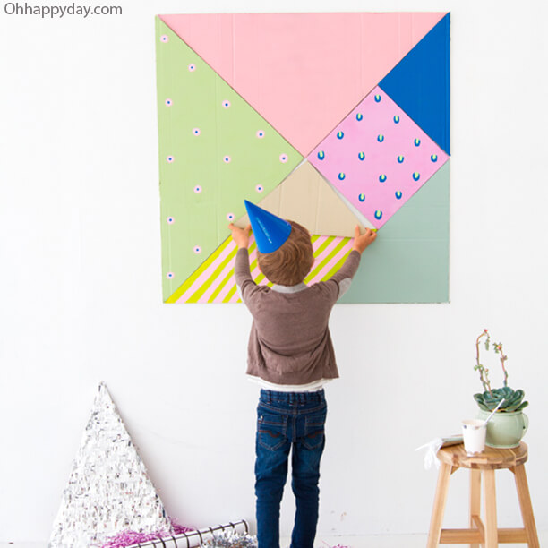 10 jogos gigantes para fazer com as crianças - tangram