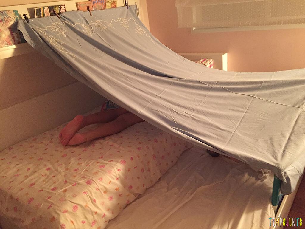 Uma festa do pijama para ninguém botar defeito - acampamento