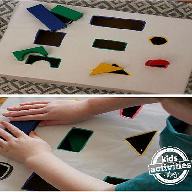10 brinquedos caseiros - peças geometricas