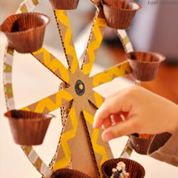 10 brinquedos caseiros - roda de papelao