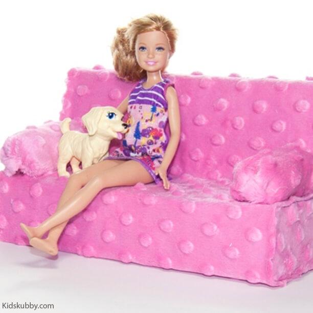 10 brinquedos caseiros - sofa de boneca