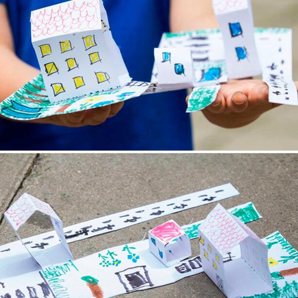 10 ideias para brincar com uma folha de papel - cidade de papel (TOP)