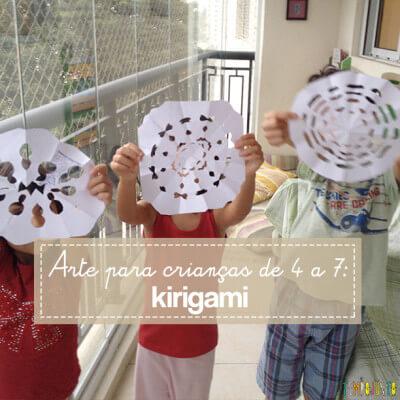 Arte para crianças entre 4 e 7 anos: kirigami