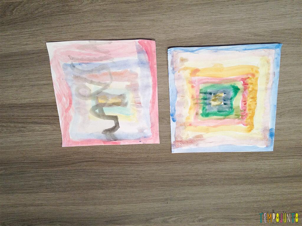 Arte para crianças entre 4 e 7 anos kirigami - desenhos