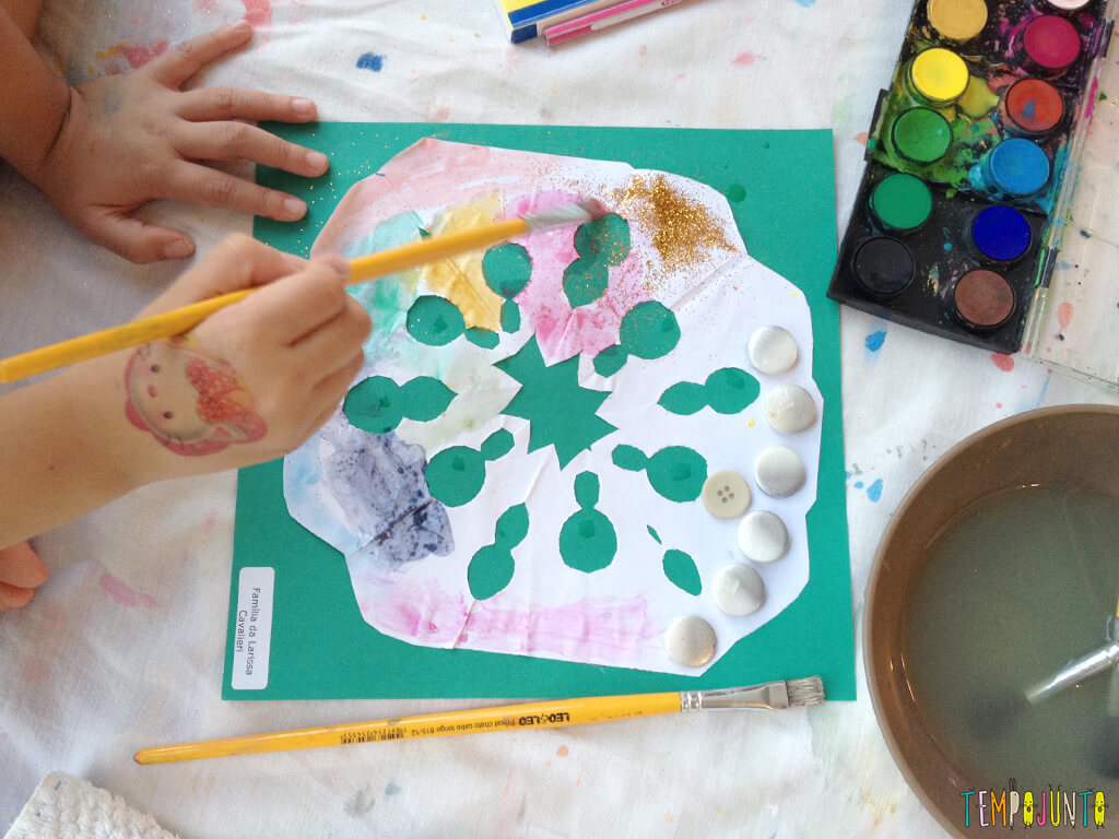 Arte para crianças entre 4 e 7 anos kirigami - kirigami pronto
