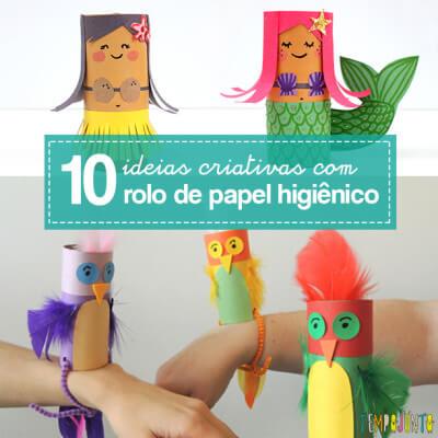 Mais ideias criativas com rolo de papel higiênico