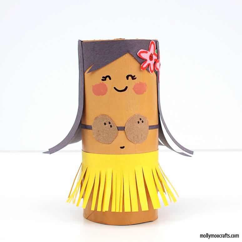 Mais ideias criativas com rolo de papel higiênico_TP-Roll-girl-craft-kids