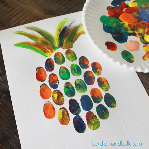 10 atividades de artes fáceis de fazer com as crianças - abacaxi de digital