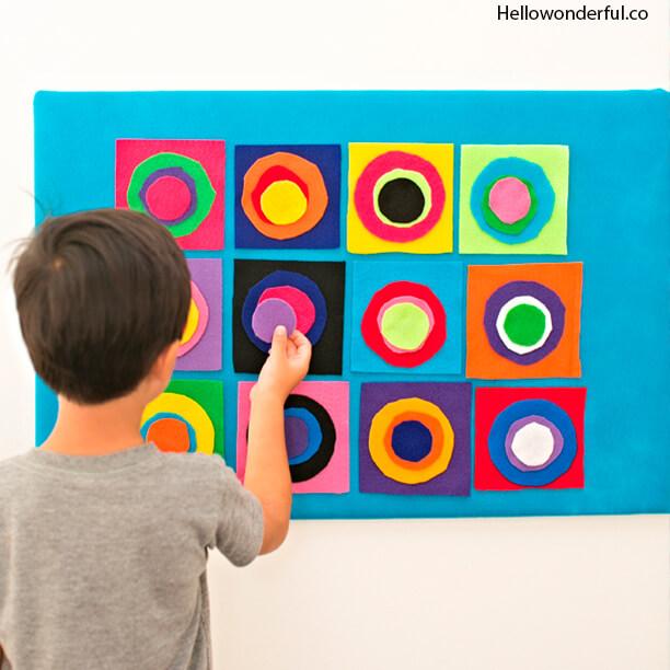 10 atividades de artes fáceis de fazer com as crianças - tela de grafitti com la
