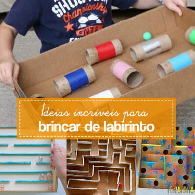 10 ideias de labirintos caseiros para fazer com as crianças