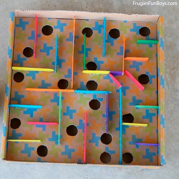 10 maneiras de fazer labirintos - labirinto colorido