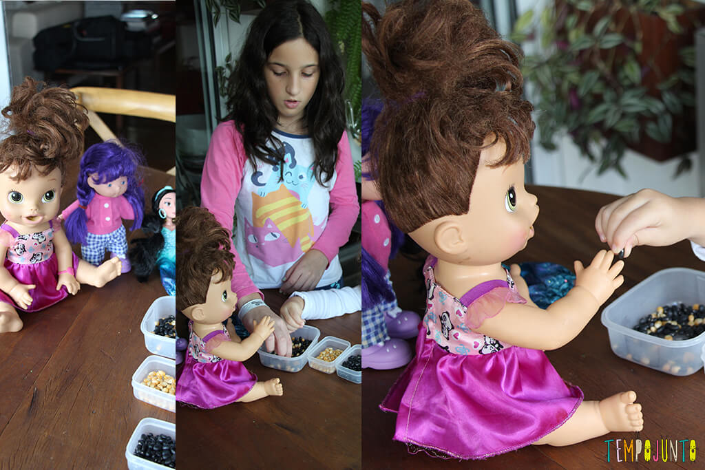 Brincadeira de coordenação motora fina para crianças de 3 anos - brinquedos e carol ajudando