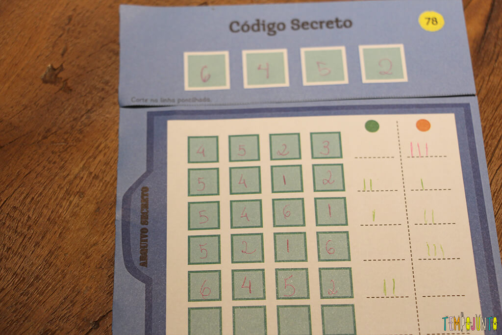 Codigo secreto - close do codigo