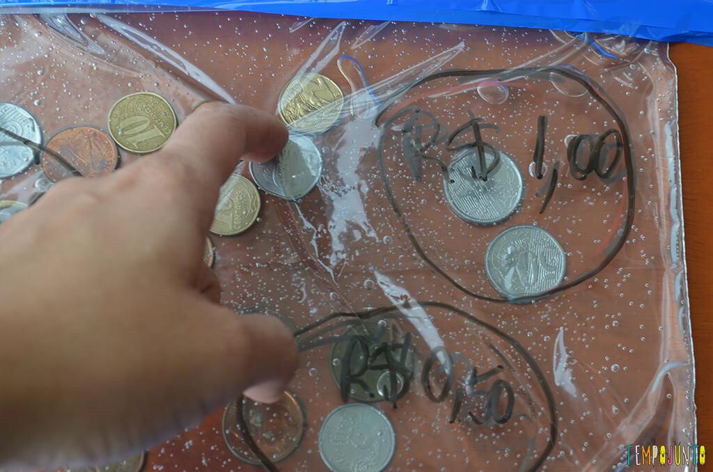 Mais utilidades do gel - moedas circuladas um real