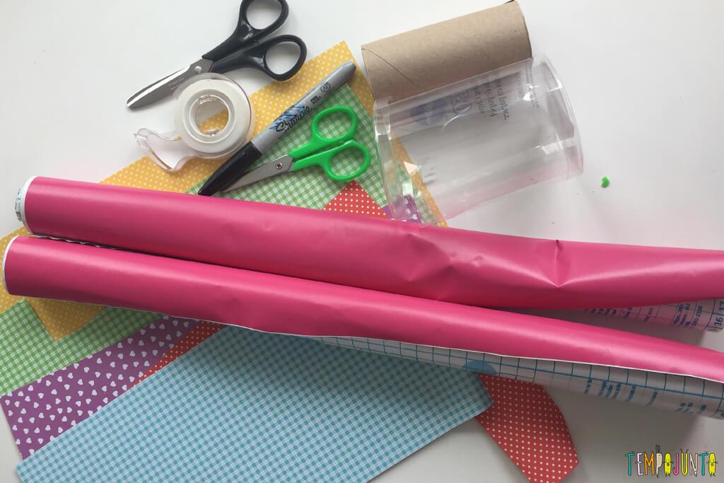 Como fazer uma casinha para as bonecas - materiais