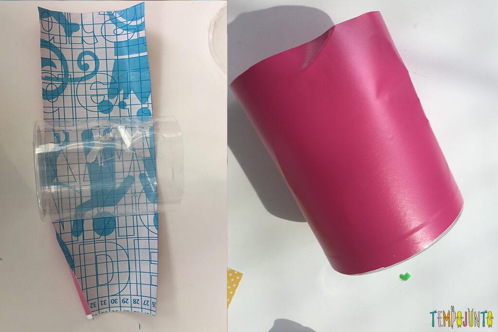 Como fazer uma casinha para as bonecas - papel contact