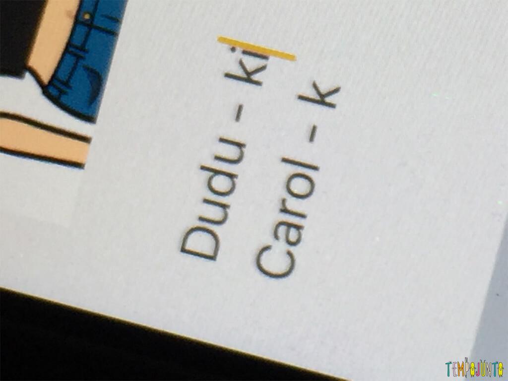 Kiriki jogo de dados para crianças grandes - caderno com os nomes