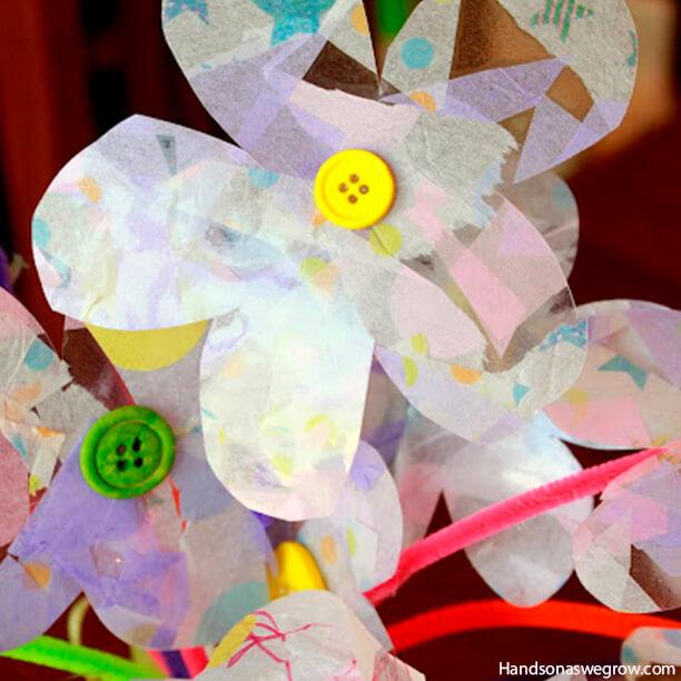 10 ideias criativas de presentes para o Dia dos Avós - flores papel de seda