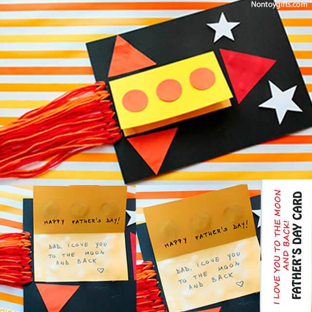 10 ideias criativas de presentes para o Dia dos Pais - cartao foguete