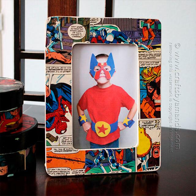 10 ideias criativas de presentes para o Dia dos Pais - porta retrato quadrinhos
