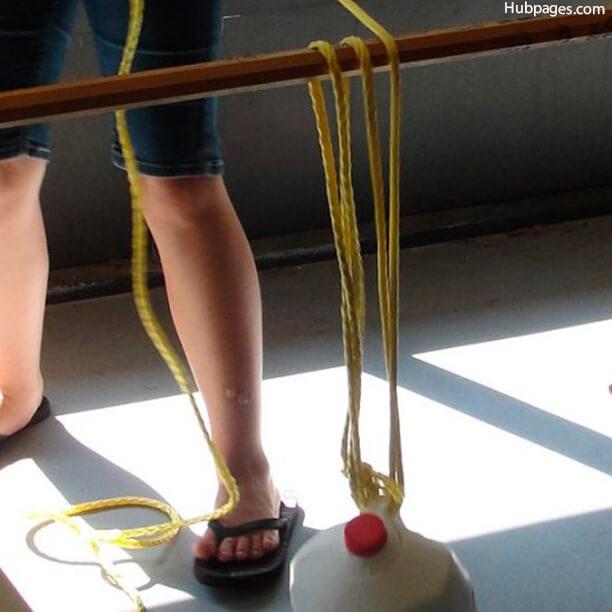 10 maneiras de brincar com corda - sistema de polias
