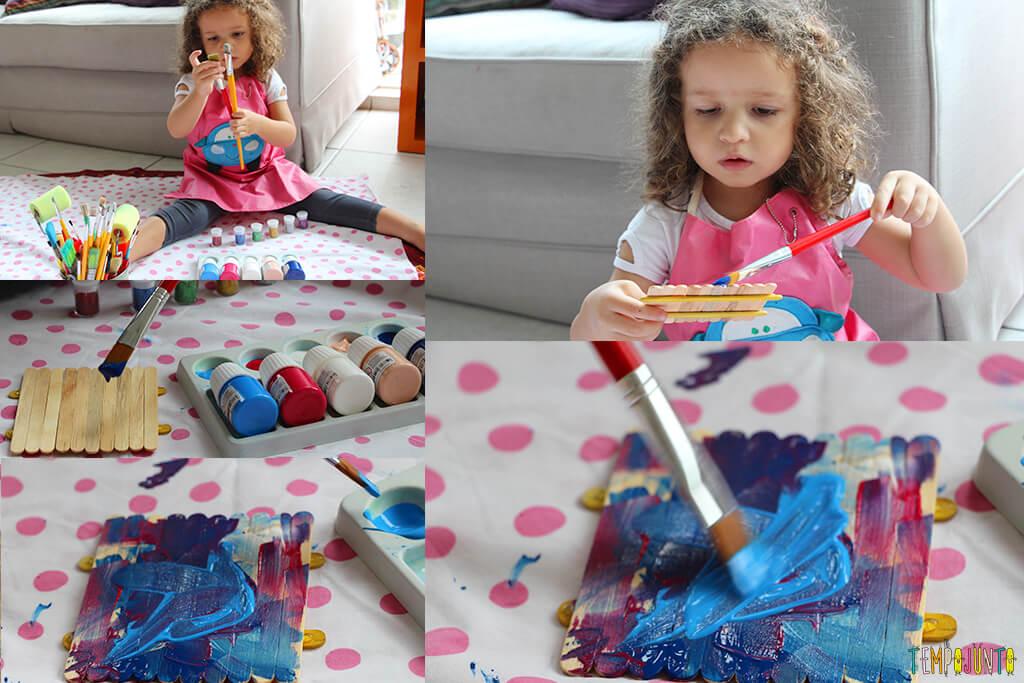 Um presente simples e criativo para o Dia dos Pais - gabi pintando
