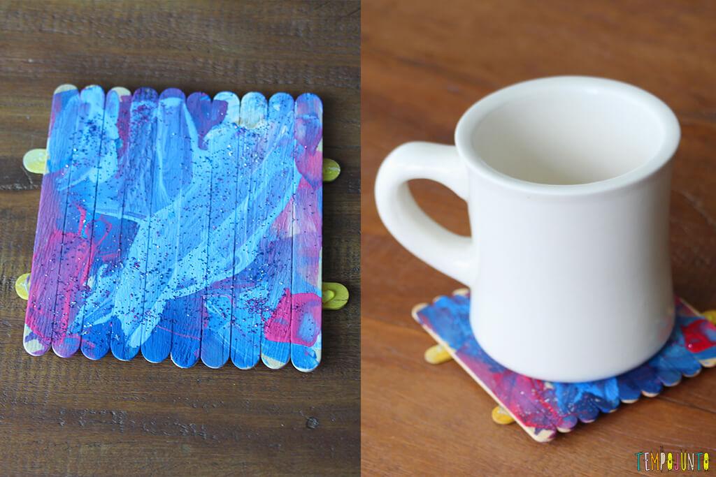 Um presente simples e criativo para o Dia dos Pais - porta copos pronto