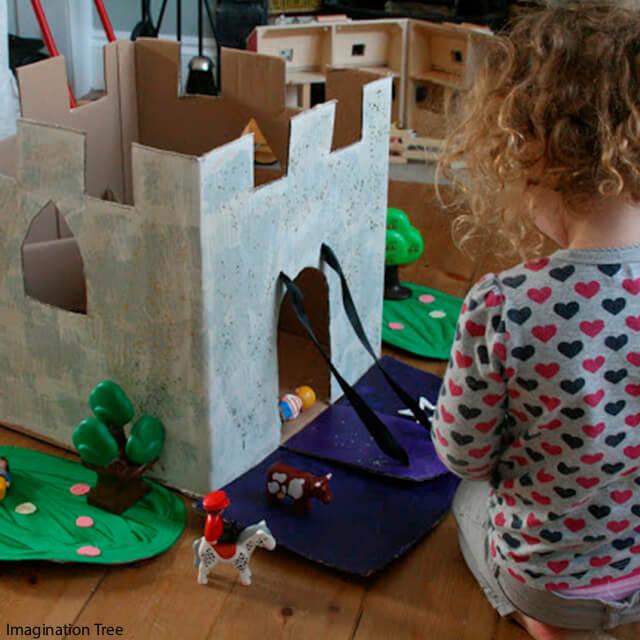 10 maneiras diferentes de criar um castelo para as crianças - castelo de contar historia