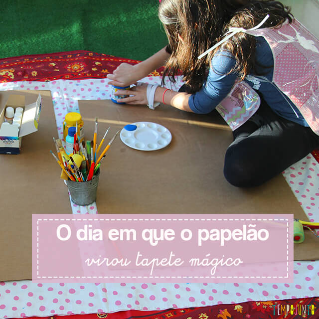 Atividade de artes para estimular a brincadeira de imaginação