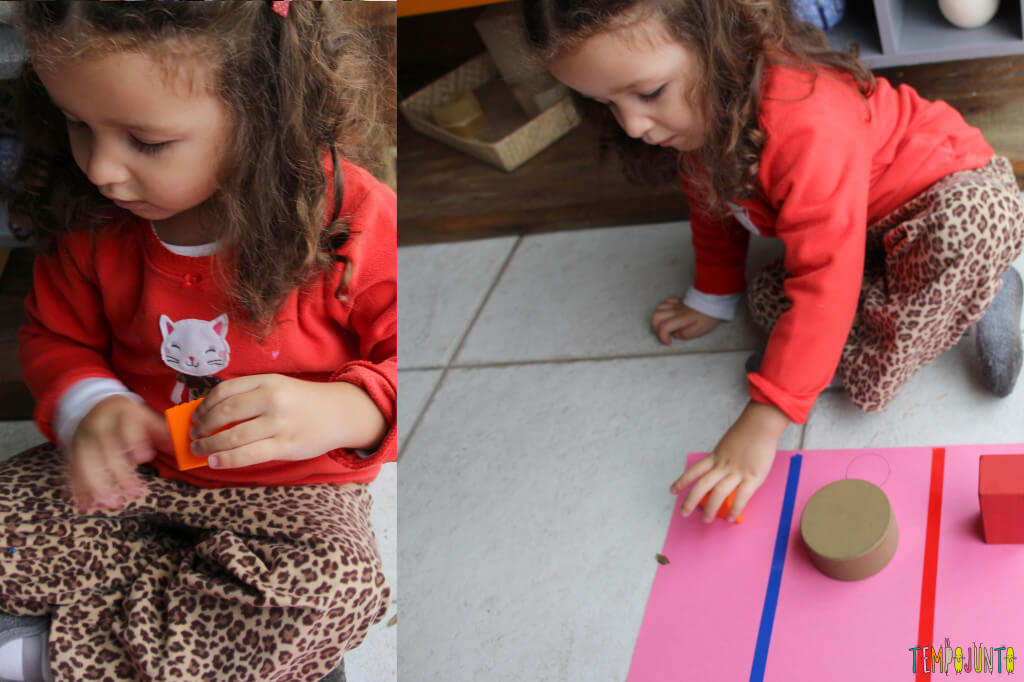 Atividade de raciocínio para crianças pequenas - gabi colocando as pecas no lugar 2
