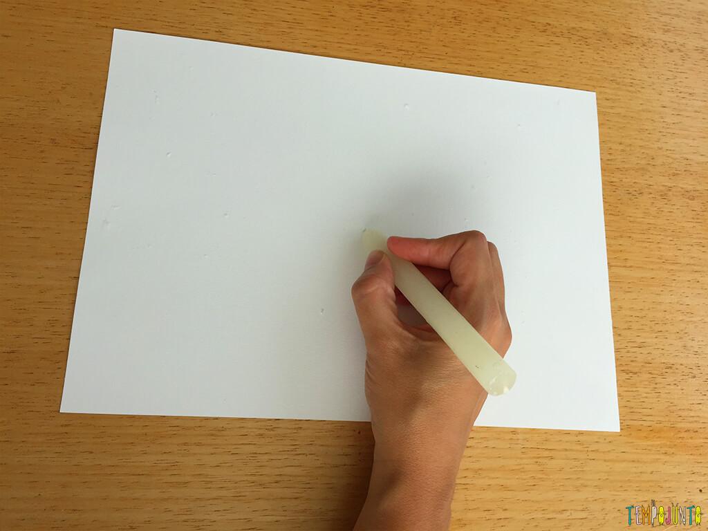 Como fazer o truque do desenho secreto - fazendo o desenho secreto