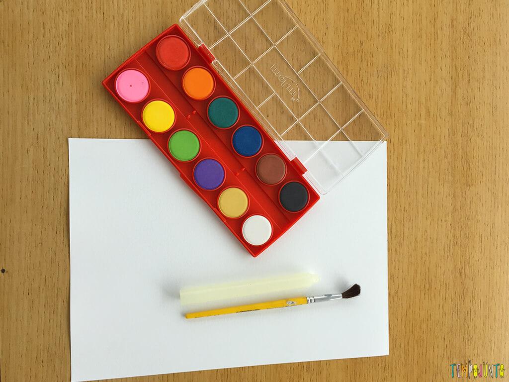 Como fazer o truque do desenho secreto - materiais