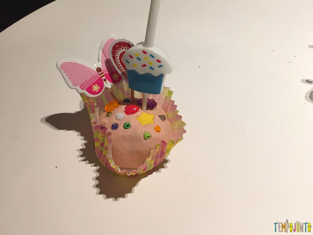 Como fazer uma fábrica de cupcake de massinha - cupcake de creme
