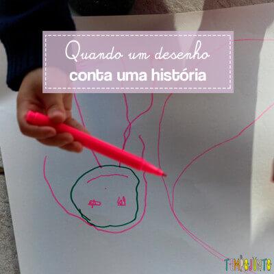Quando a criança usa o desenho para contar história