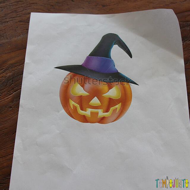 Como decorar uma festa de Halloween - parte 2 -  abobora impressa