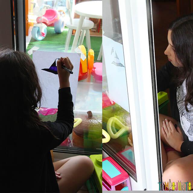 Como decorar uma festa de Halloween - parte 2 - carol desenhando a abobora