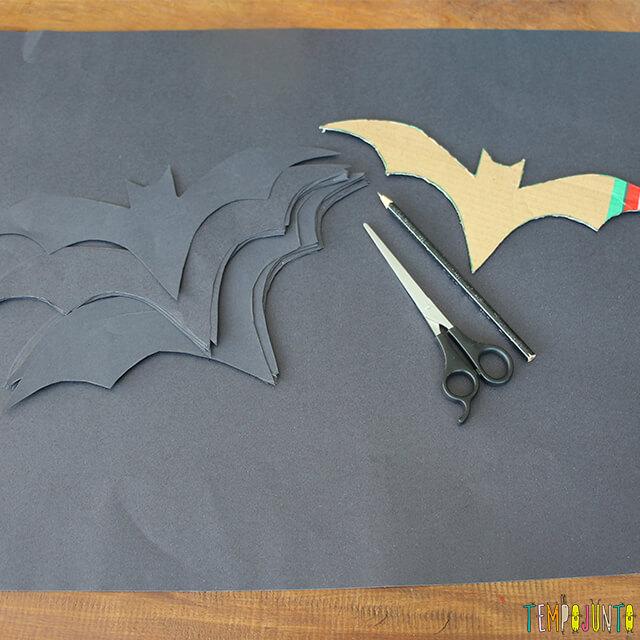 Como decorar uma festa de Halloween - parte 2 - morcego de cartolina