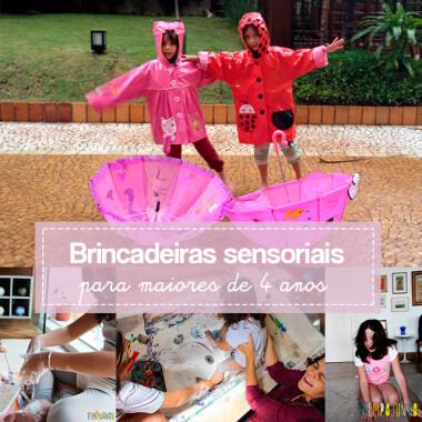Crianças mais velhas também gostam de brincadeiras sensoriais