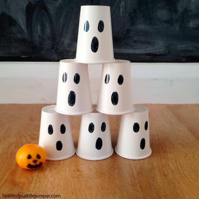 10 ideias criativas para o Dia das Bruxas - derrubar o fantasma
