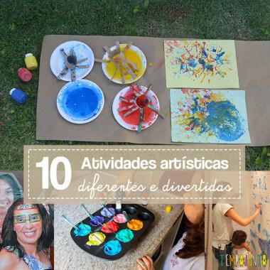 10 maneiras diferentes de fazer arte com as crianças