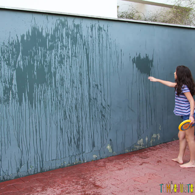 Arte de Jackson Pollock com água - pintura pronta