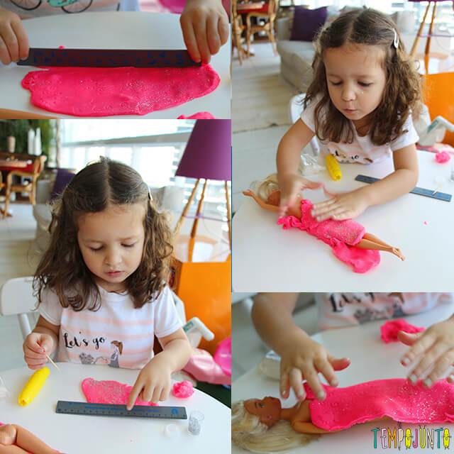 Como fazer roupinha de massinha - gabi montando a boneca