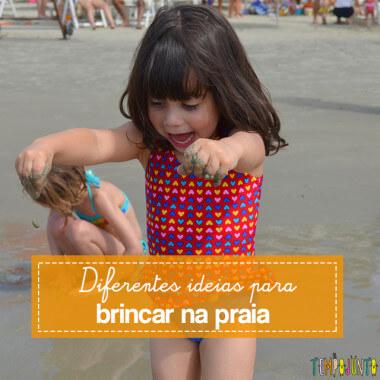 Dicas de estímulo sensorial e físico nas brincadeiras na praia