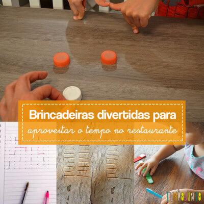 Mais 10 ideias de como brincar no restaurante com as crianças