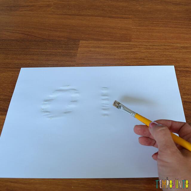 Tinta invisível para brincar de mensagem secreta - pat pintando
