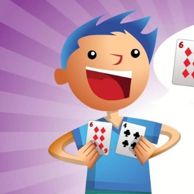 10 jogos de dados e cartas para a família - ache o 10